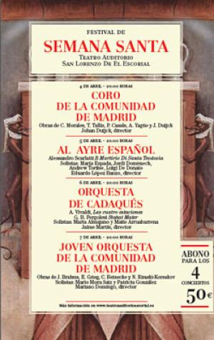 Festival de Semana Santa 2012. Una Cita con la Música Sacra en la Sierra Madrileña