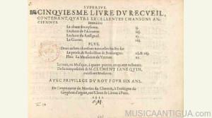 Partituras de Clément Janequin