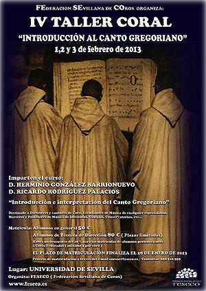 """IV TALLER CORAL """"Introducción al Canto Gregoriano"""""""