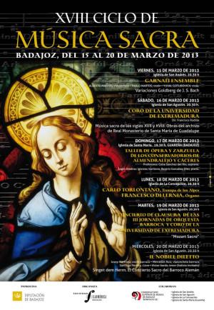Il Nobile Diletto clausura el XVIII Ciclo de Música Sacra de Badajoz
