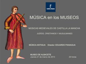 Eduardo Paniagua lleva la música del medievo al Museo de Albacete