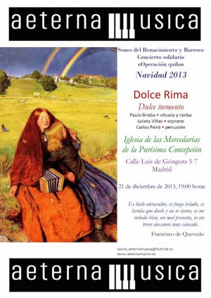 El dulce tormento del amor según Dolce Rima (Madrid, 21 de diciembre)