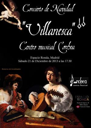 Concierto de Navidad Villanesca a cargo del Centro musical Corchea y su coro infantil
