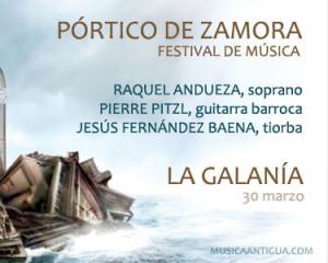 Raquel Andueza & La Galanía pondrán el broche de oro al Festival Pórtico de Zamora