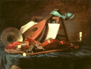 Instrumentos y partituras con 500 años, una oportunidad para músicos profesionales