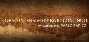 CURSO INTENSIVO DE BAJO CONTINUO en SEVILLA