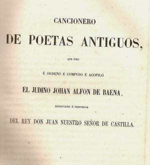 El Cancionero de Baena y el amor castellano medieval por la poesía