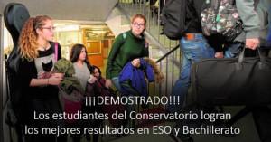 Los estudiantes del Conservatorio logran los mejores resultados en ESO y Bachillerato