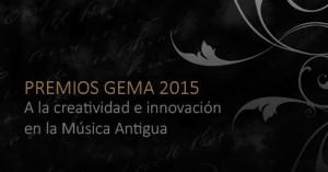 Premios Gema a la creatividad e innovación en la Música Antigua