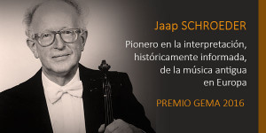 EL VIOLINISTA, DIRECTOR Y MAESTRO JAAP SCHROEDER. PREMIO DE HONOR GEMA 2016