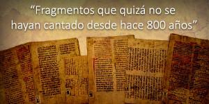 Hallados unos pasajes musicales, de entre los siglos XI y XVI, escondidos entre libros de cuentas