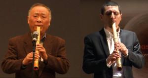 Melodía de shakuhachi por la independencia de Japón