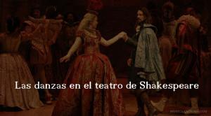 Las danzas en el teatro de Shakespeare