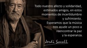 """Coronavirus: El Maestro Jordi Savall lanza un mensaje de """"apoyo y solidaridad"""""""