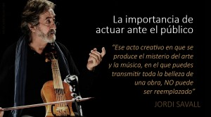 Jordi Savall: «La única certeza es que la música debe ser vivida»