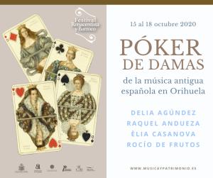 Póker de damas de la música antigua en Orihuela